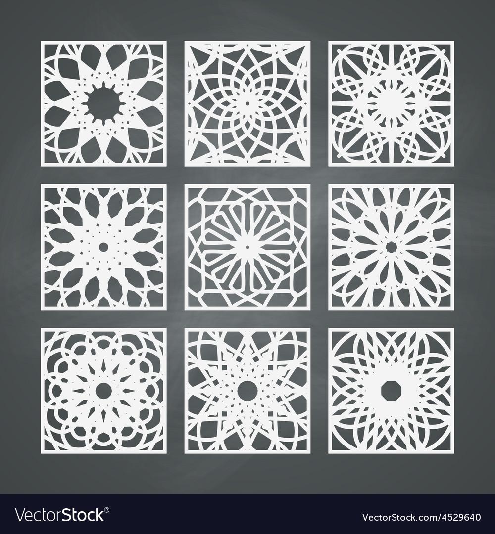 Square ornament set vector | Price: 1 Credit (USD $1)
