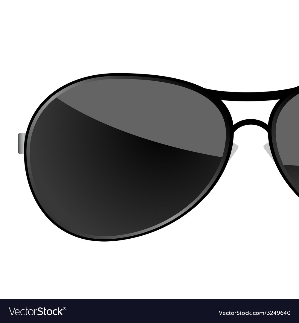 Sunglass black art vector | Price: 1 Credit (USD $1)