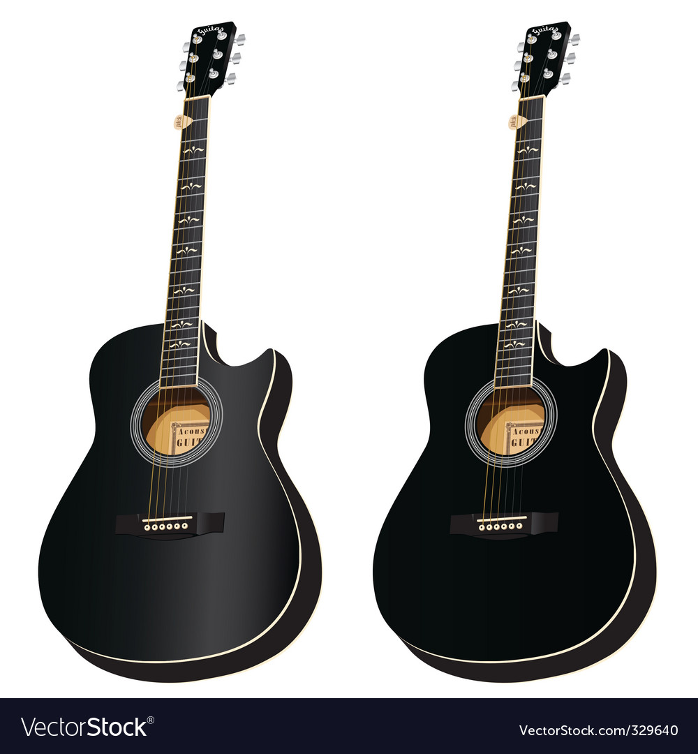 two black acoustic cuta vector | Price: 1 Credit (USD $1)
