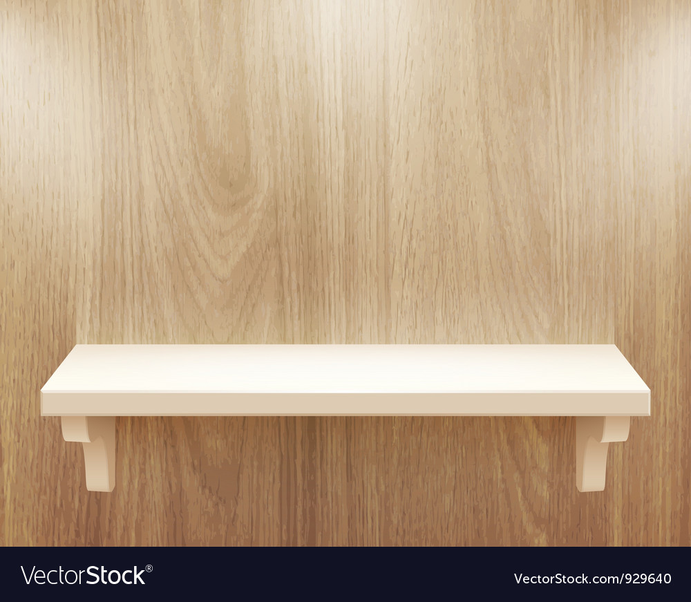 Wooden shelf vector | Price: 3 Credit (USD $3)