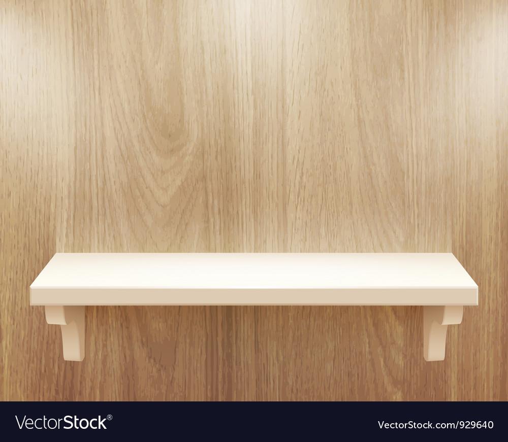 Wooden shelf vector | Price: 3 Credit (USD $3)