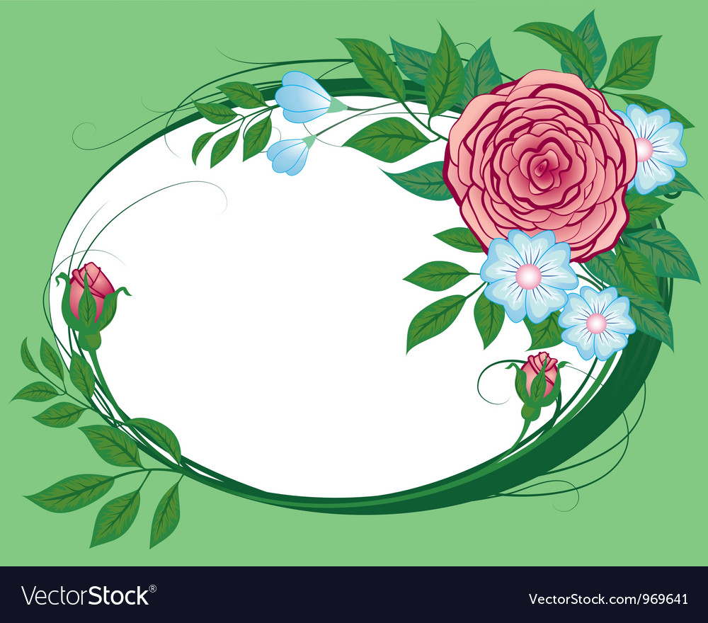 Abstract cornflowers and roses the vignette vector | Price: 1 Credit (USD $1)