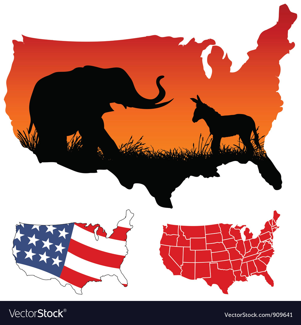 American map vector | Price: 1 Credit (USD $1)