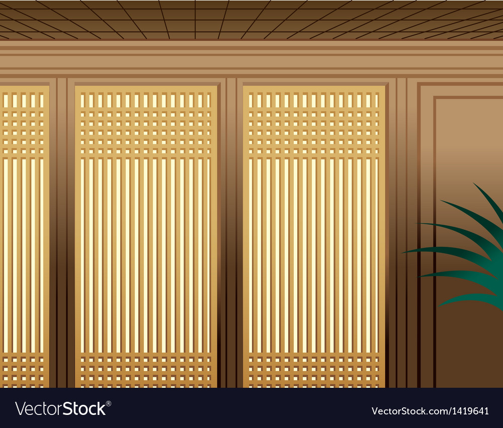 Asian bamboo interior vector | Price: 1 Credit (USD $1)