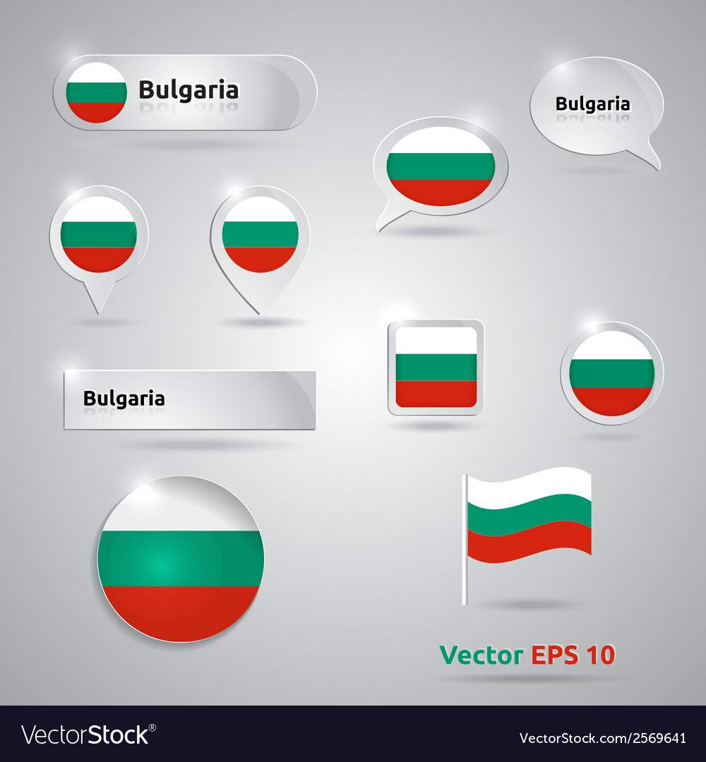 Bulgaria icon set of flags vector | Price: 1 Credit (USD $1)