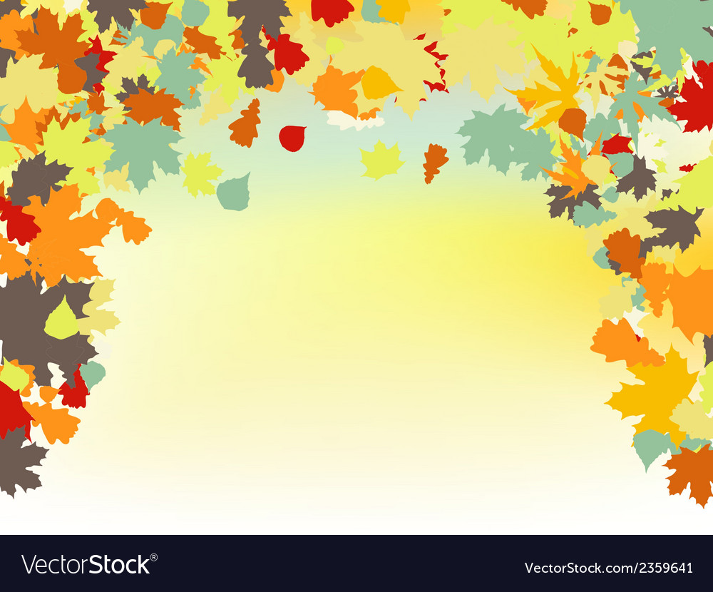 Colorful backround of fallen autumn leaves eps 8 vector | Price: 1 Credit (USD $1)