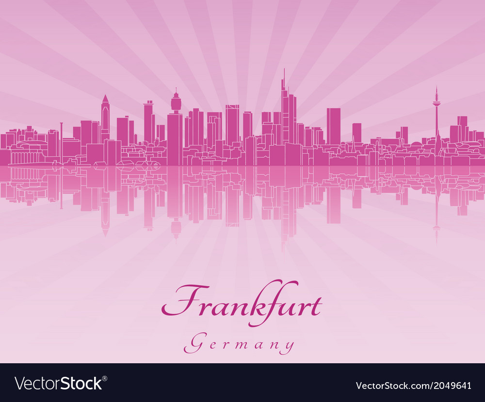 Frankfurt skyline in purple radiant orchid vector | Price: 1 Credit (USD $1)