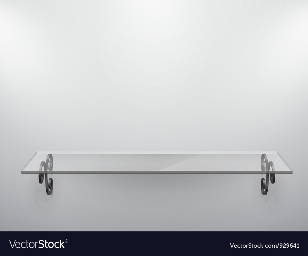 Glass shelf vector | Price: 1 Credit (USD $1)