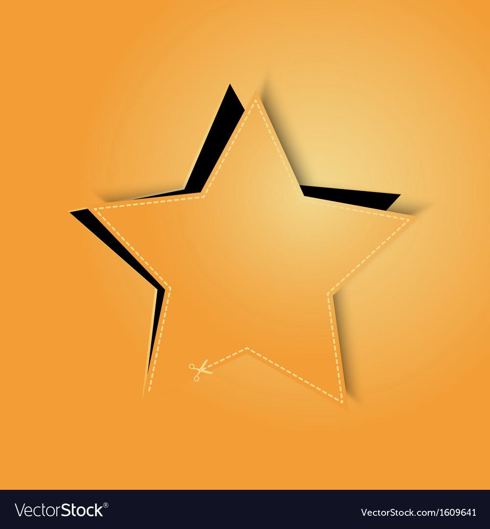 Golden paper star vector   Price: 1 Credit (USD $1)