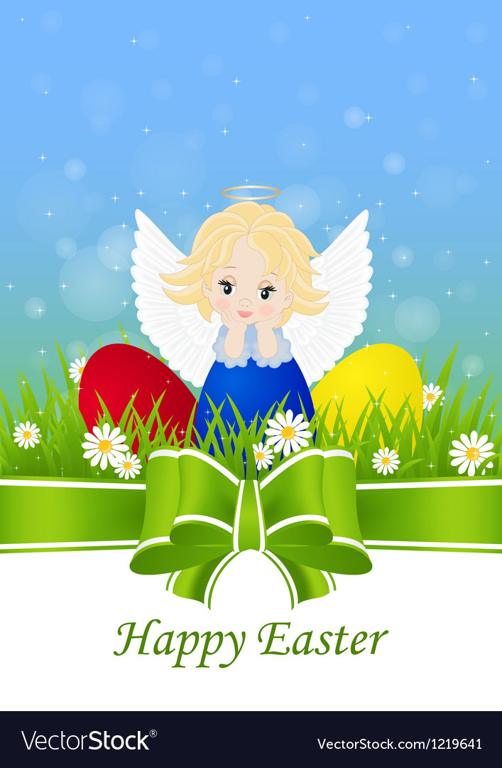 Greeting card for easter vector | Price: 1 Credit (USD $1)