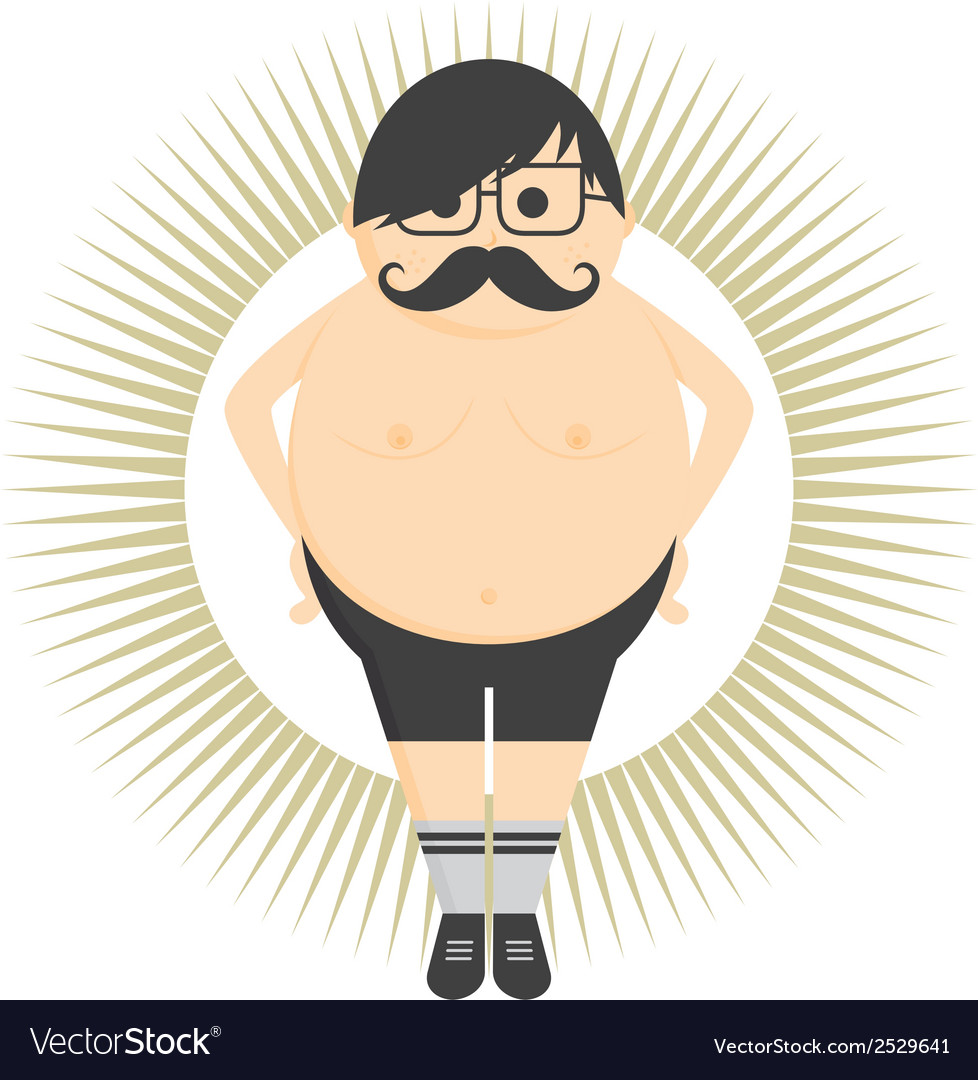 Old fat man vector | Price: 1 Credit (USD $1)