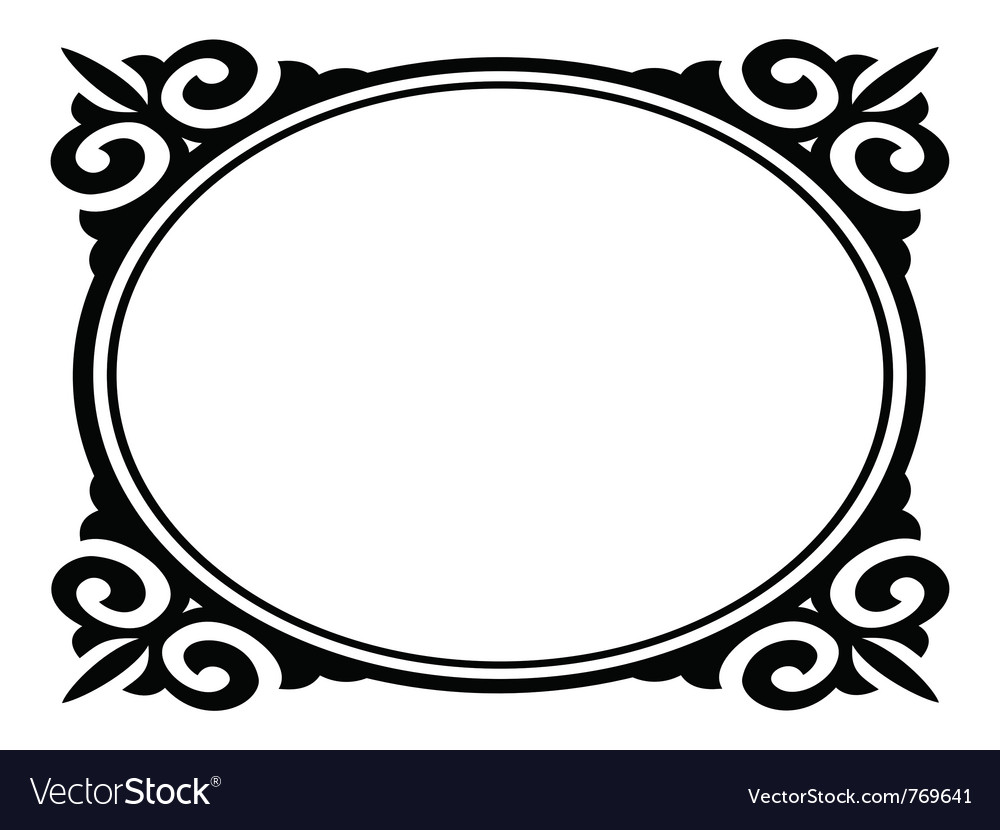 Oval ornamental frame vector | Price: 1 Credit (USD $1)