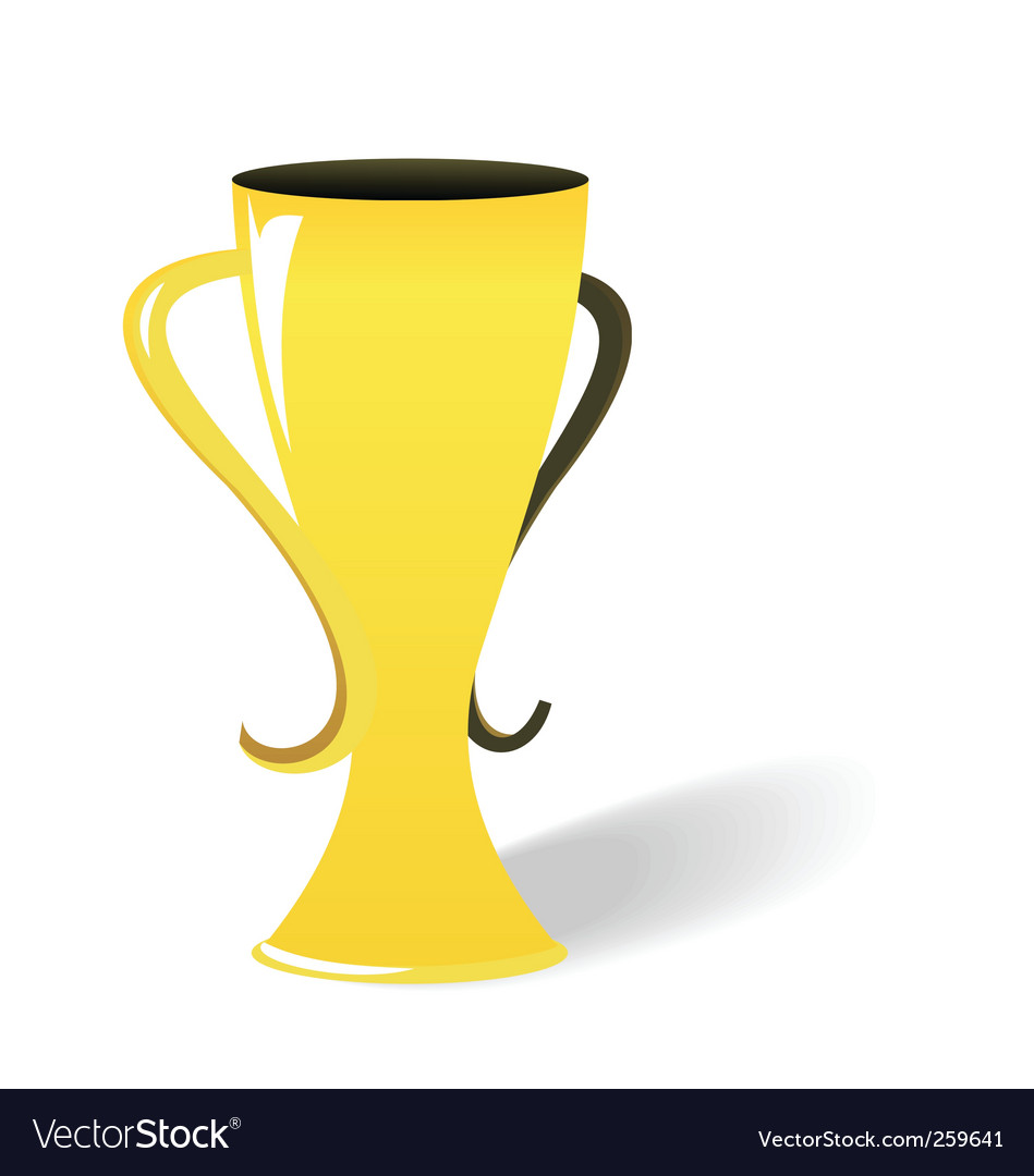 Prize gold cup vector | Price: 1 Credit (USD $1)
