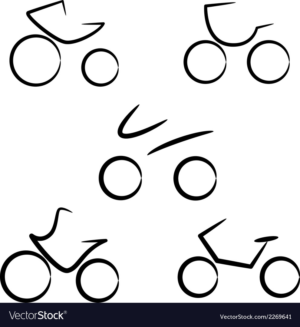 Stylized bicycle vector | Price: 1 Credit (USD $1)