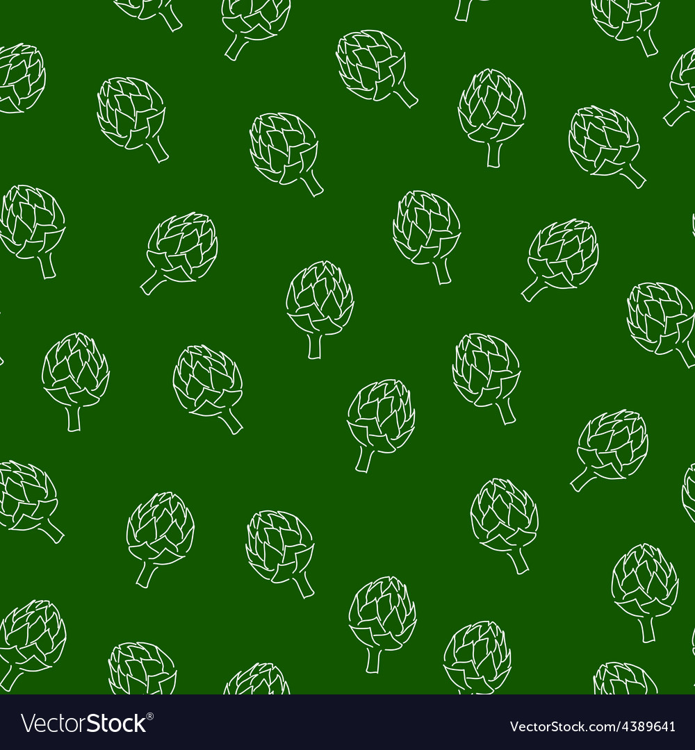 Vitamin artichoke doodle pattern for kitchen vector | Price: 1 Credit (USD $1)