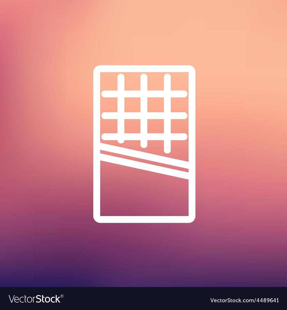 Waffle thin line icon vector | Price: 1 Credit (USD $1)