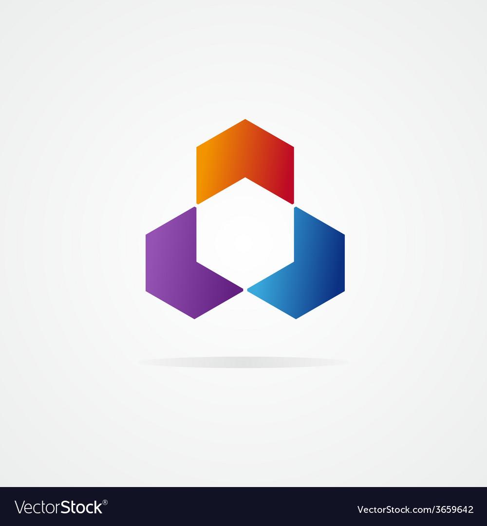 Abstract hexagon design vector | Price: 1 Credit (USD $1)