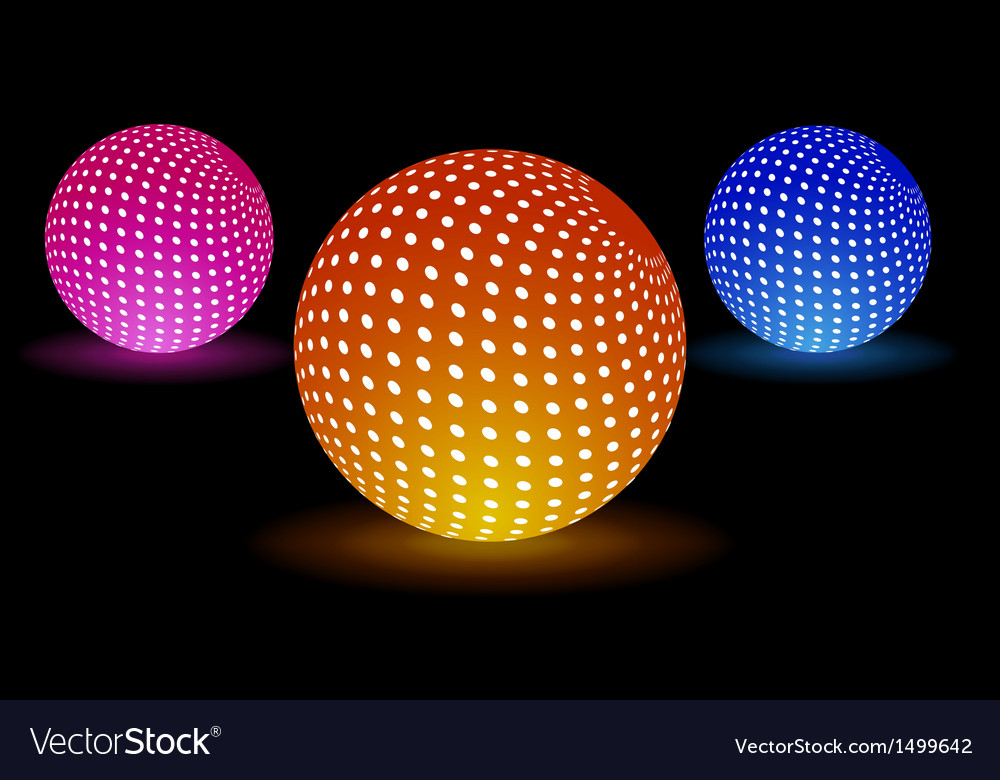 Digital light balls vector | Price: 1 Credit (USD $1)