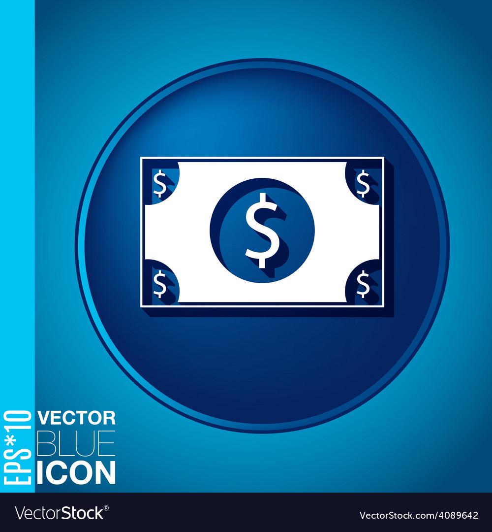 Dollar bill symbol of money vector | Price: 1 Credit (USD $1)