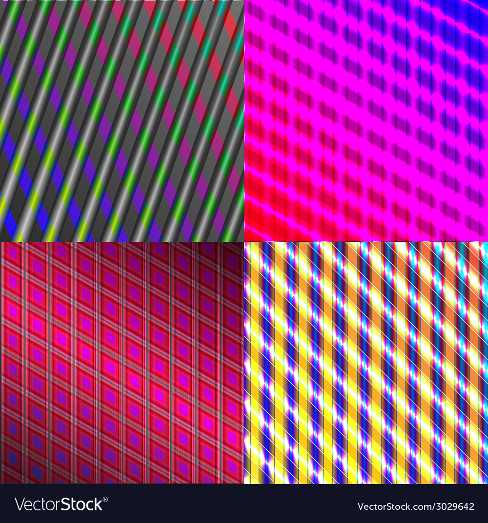 Set of dark abstract spectrum background lines vector | Price: 1 Credit (USD $1)