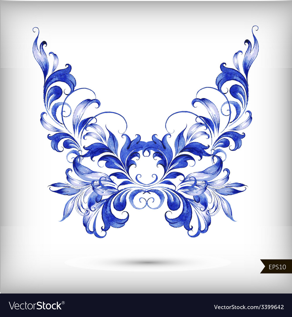 Watercolor blue butterfly vector | Price: 1 Credit (USD $1)