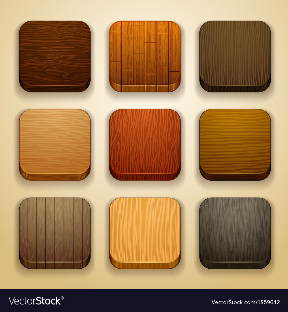 Wood background for the app icons vector | Price: 1 Credit (USD $1)