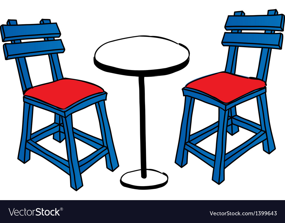 A table with chairs vector | Price: 1 Credit (USD $1)