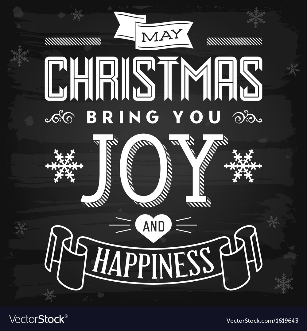 Christmas greetings chalkboard vector | Price: 1 Credit (USD $1)