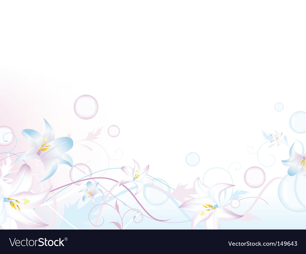 Floral bubbly decoration vector | Price: 1 Credit (USD $1)