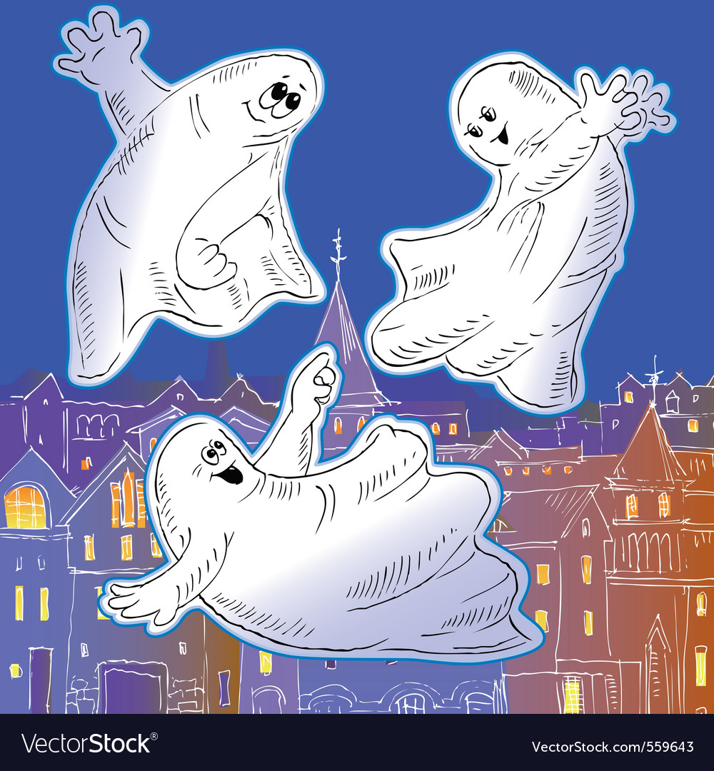 Ghost drawing vector | Price: 1 Credit (USD $1)