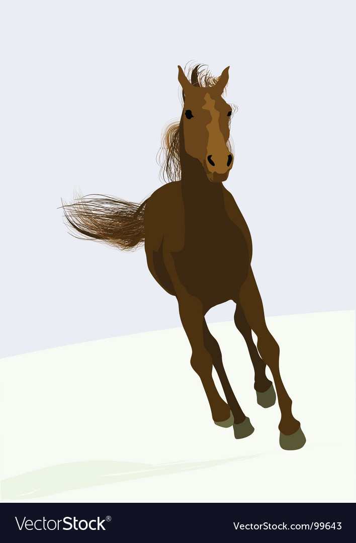 Race horse vector | Price: 1 Credit (USD $1)