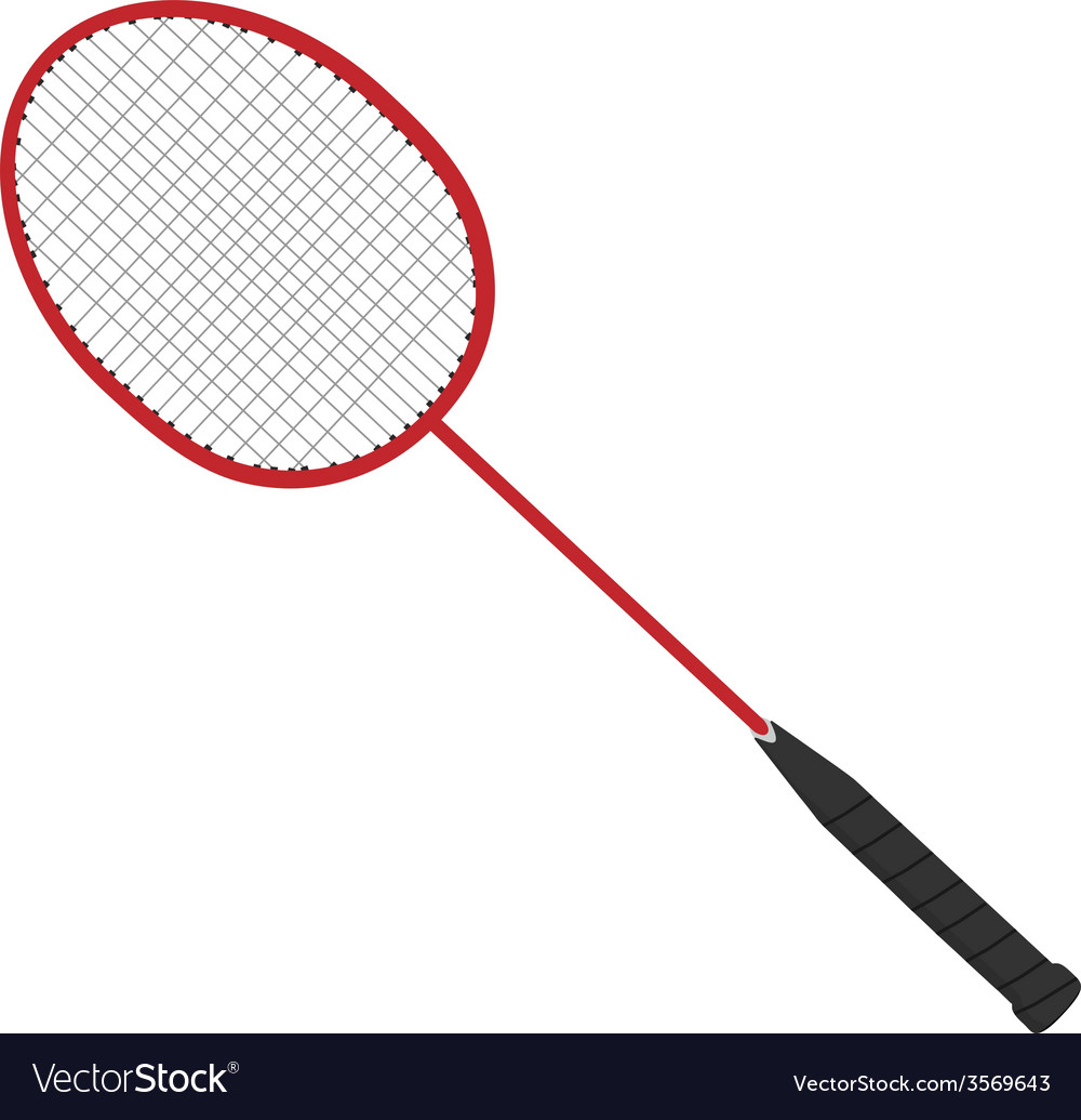 Red badminton racket vector | Price: 1 Credit (USD $1)