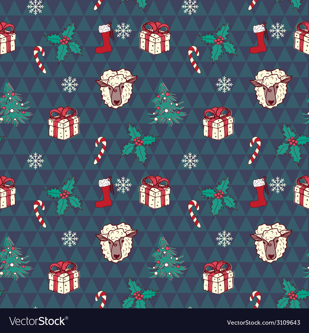 Seamless christmas pattern in vector | Price: 1 Credit (USD $1)