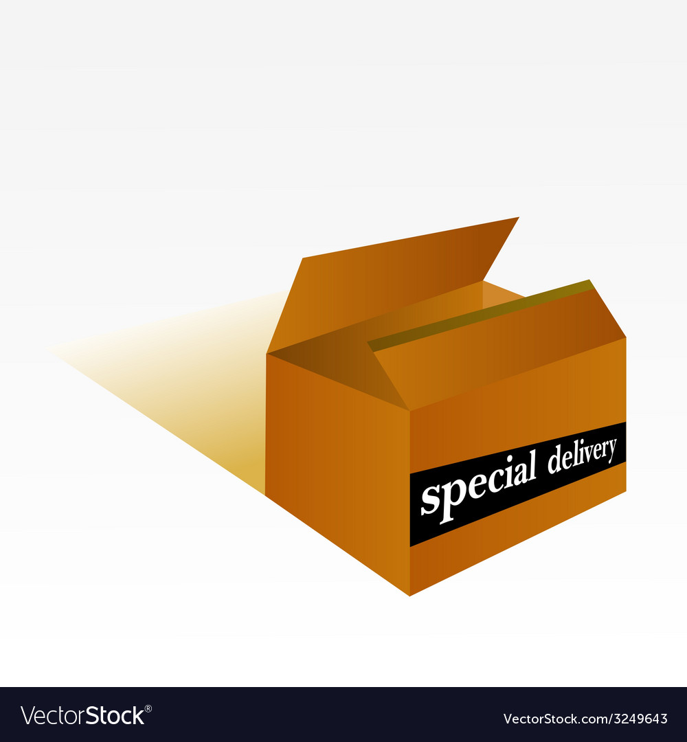 Special delivery box vector | Price: 1 Credit (USD $1)