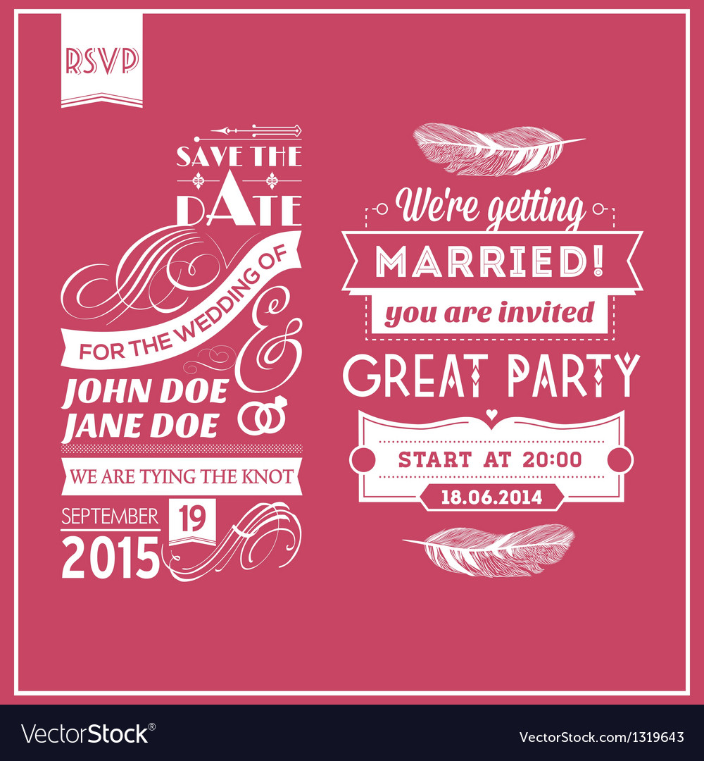 Wedding stamps pink vector | Price: 1 Credit (USD $1)