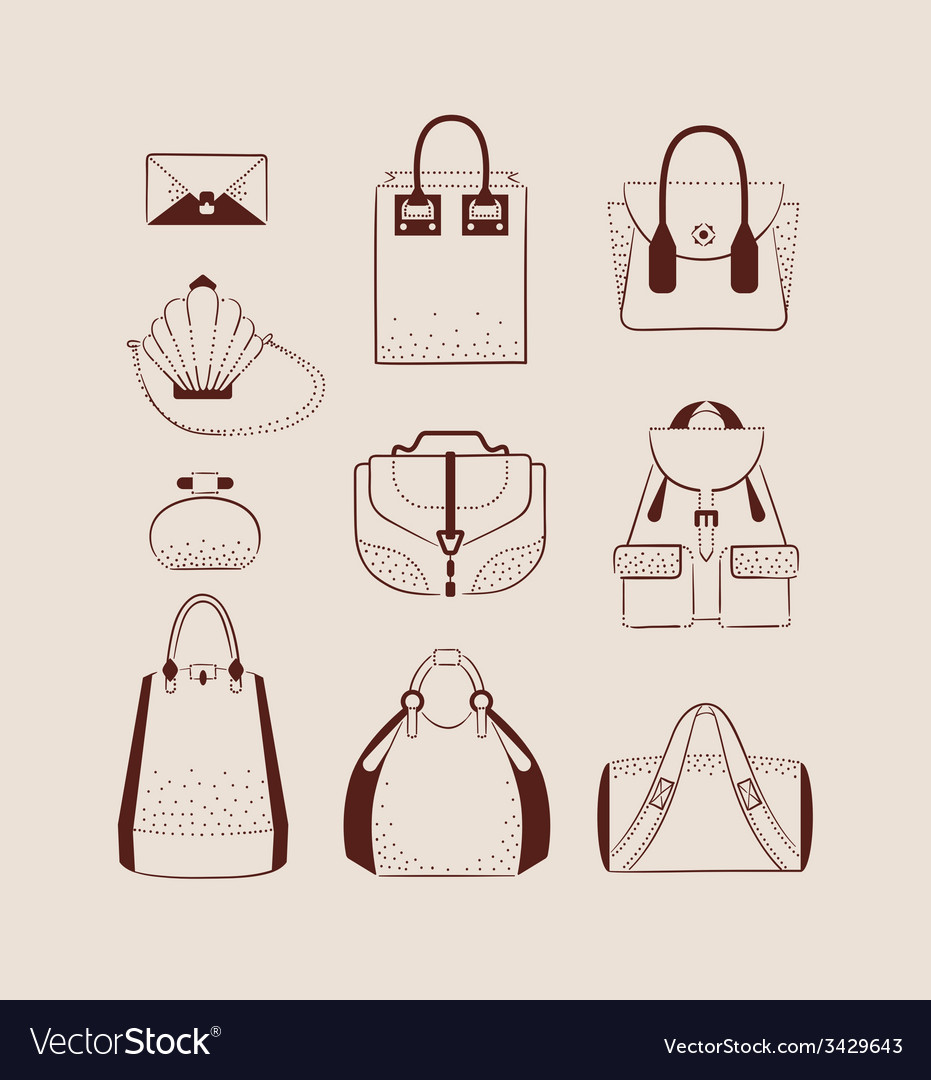 Woman bags for day and evening vector | Price: 1 Credit (USD $1)