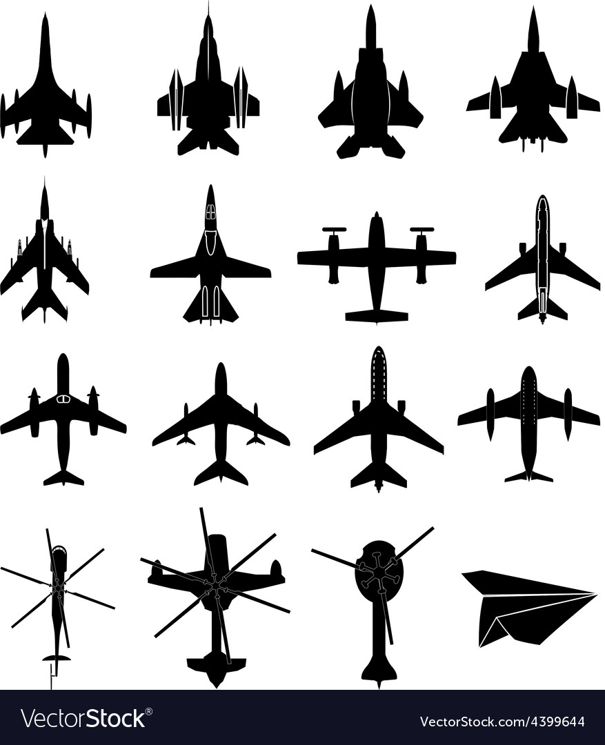 Aircraft icons set vector | Price: 3 Credit (USD $3)