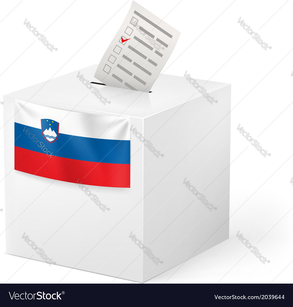 Ballot box with voting paper slovenia vector   Price: 1 Credit (USD $1)