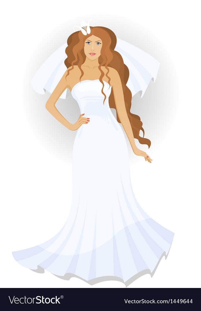 Bride with a veil vector | Price: 1 Credit (USD $1)