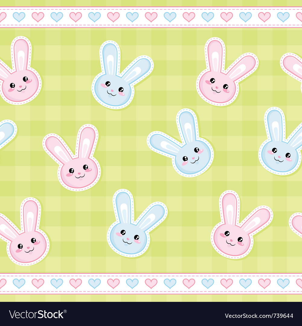 Bunnies pattern vector | Price: 1 Credit (USD $1)