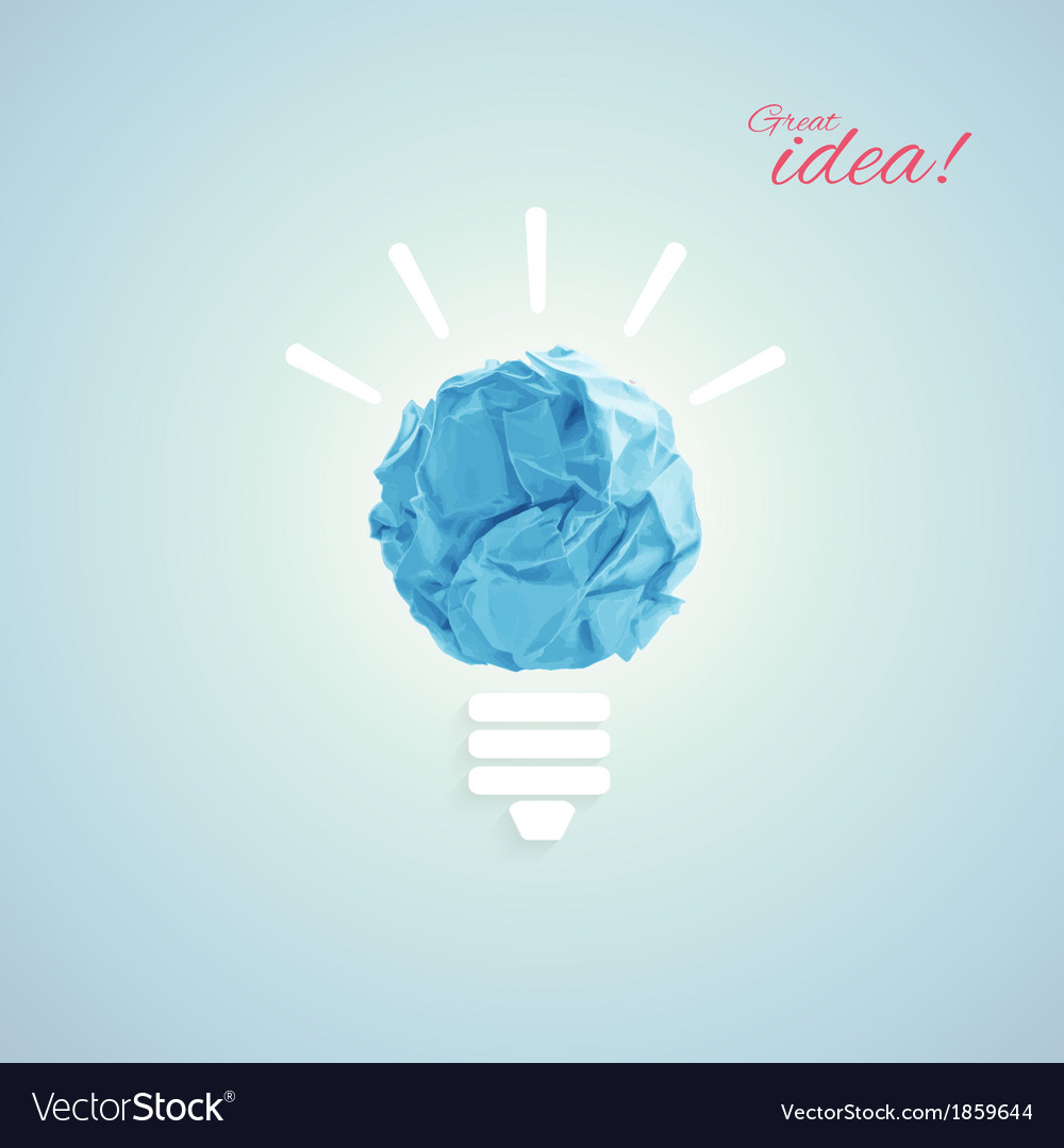 Concept with bulb vector   Price: 1 Credit (USD $1)