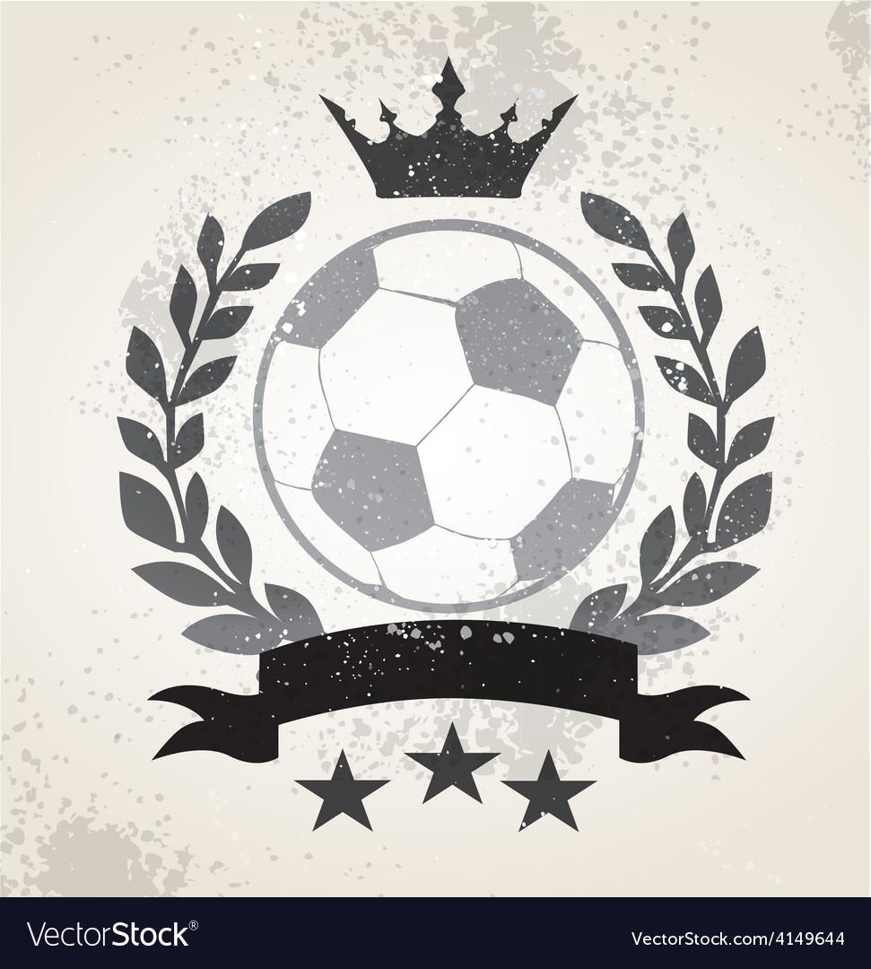 Grunge soccer laurel weath vector | Price: 1 Credit (USD $1)