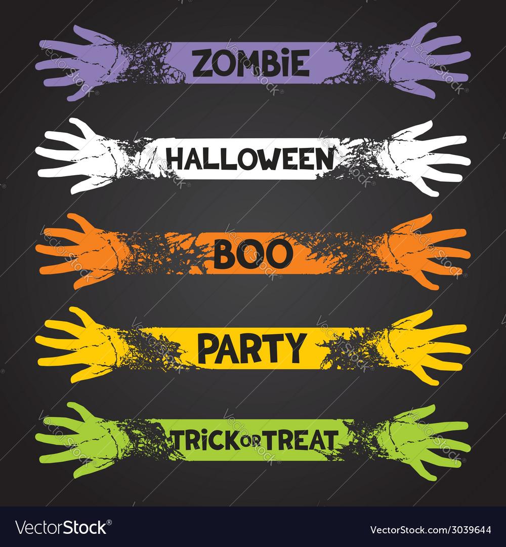 Halloween fun ribbons vector | Price: 1 Credit (USD $1)