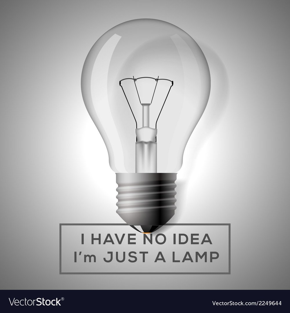 Light bulb with innovation idea concept vector | Price: 1 Credit (USD $1)