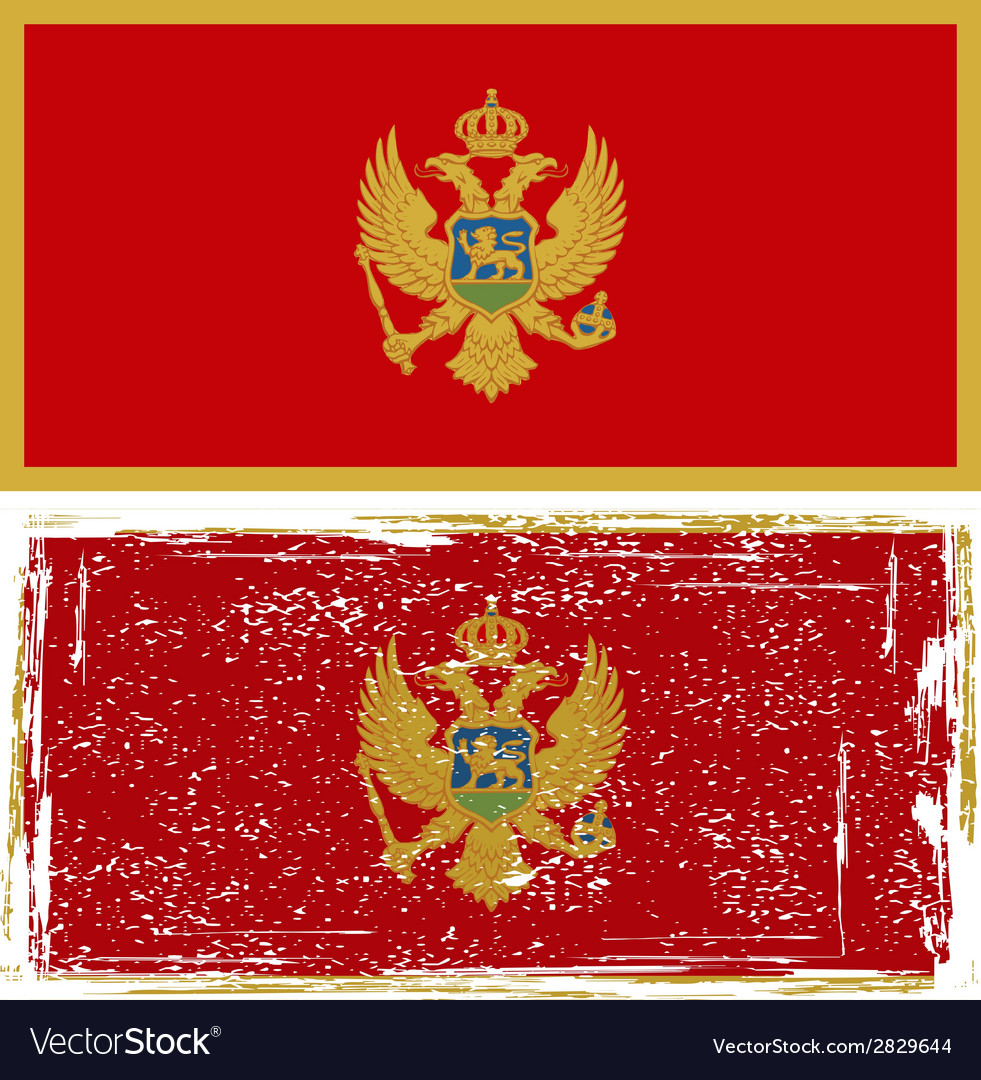 Montenegro grunge flag  grunge effect can be vector | Price: 1 Credit (USD $1)