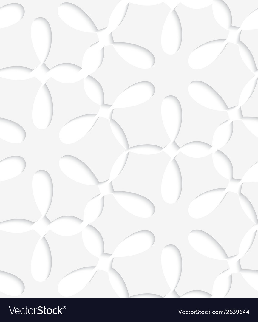 White simple flower seamless pattern vector | Price: 1 Credit (USD $1)