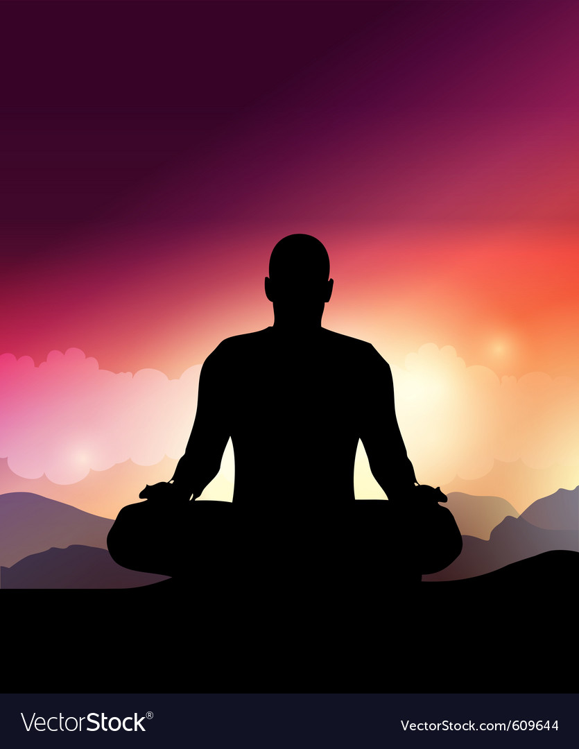 Yoga meditation vector | Price: 1 Credit (USD $1)