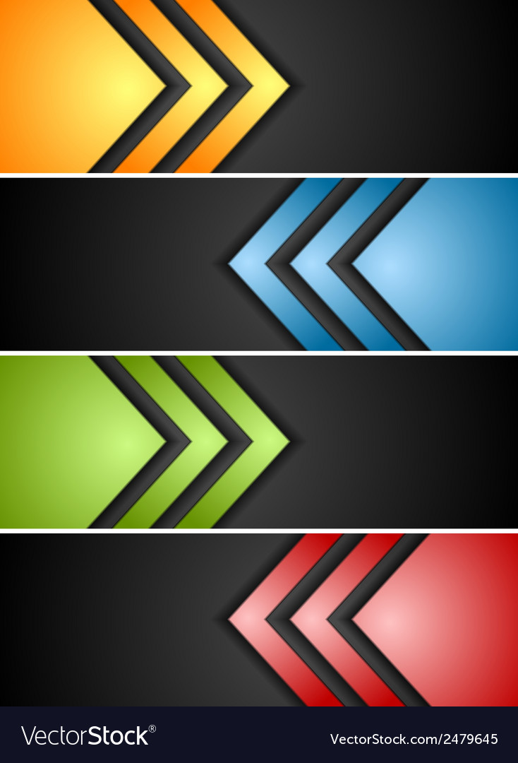Abstract banners with arrows vector | Price: 1 Credit (USD $1)