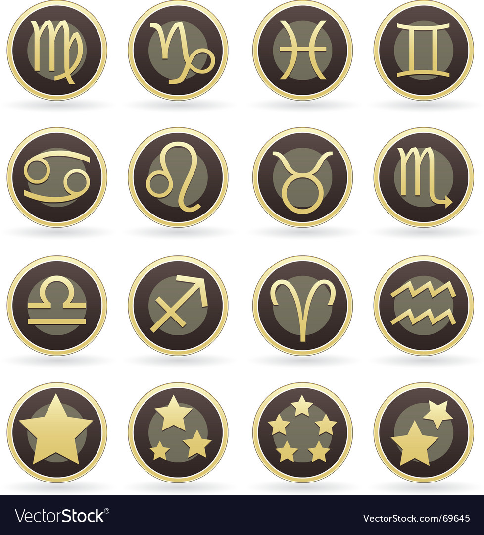 Astrology icons vector