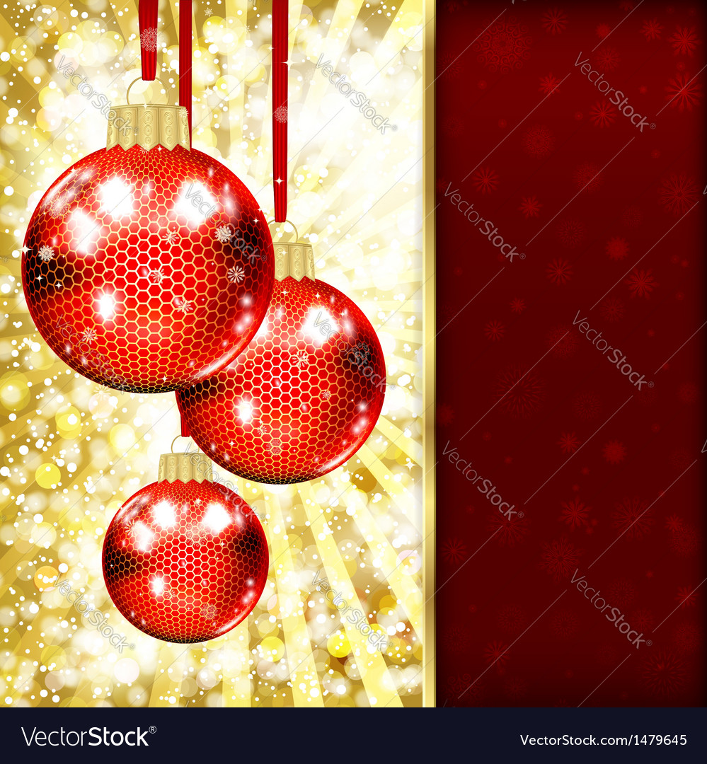 Background with christmas balls vector | Price: 3 Credit (USD $3)